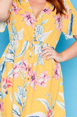 Marley Yellow Floral Dress