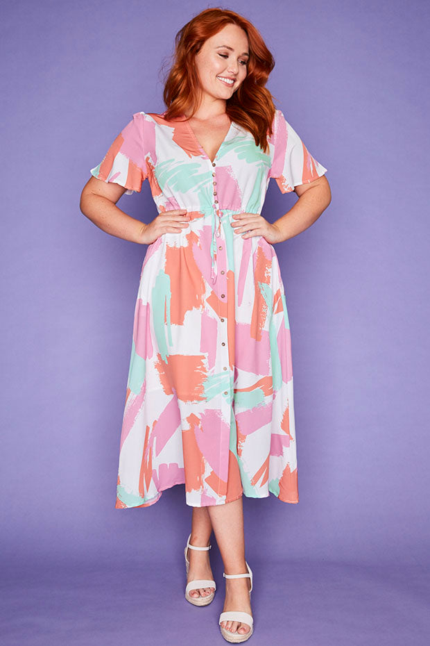Marley Brushstroke Dress