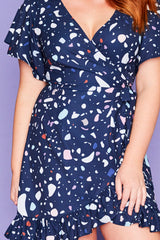 Sue Inkblots Wrap Dress