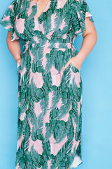 Shadows Pink Palms Dress