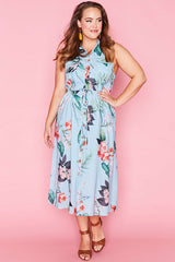 Elizabeth Blue Floral Dress