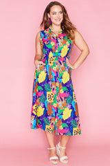 Elizabeth Jangal Print Dress
