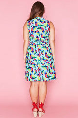 Oscar Rainbow Lorikeets Dress