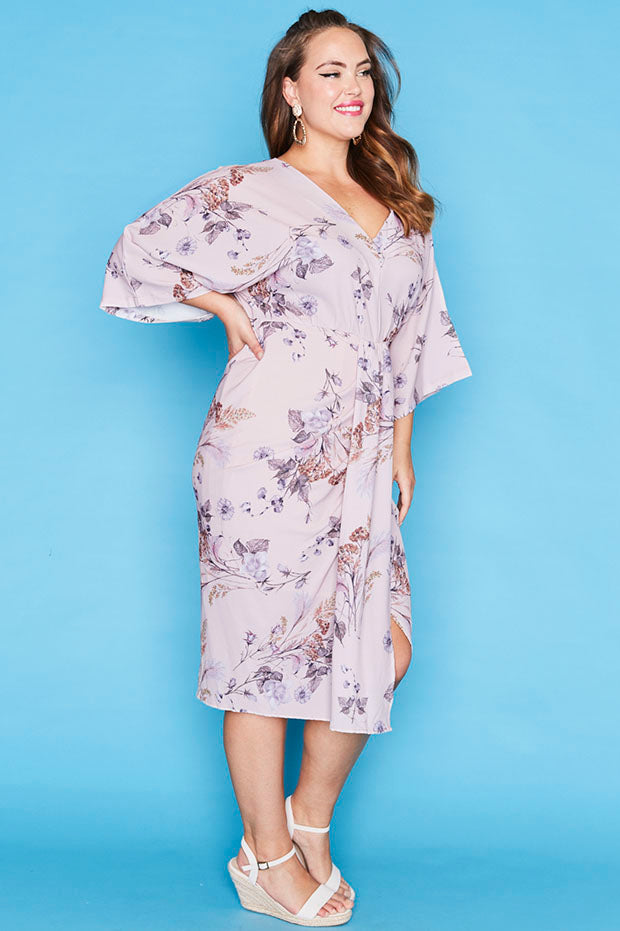 Camila Pink Floral Dress