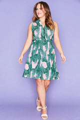 Oscar Pink Palms Dress