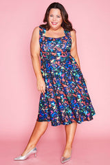 Hazel Paparazzi Print Dress