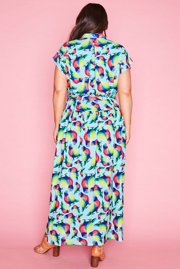 Miley Rainbow Lorikeet Maxi Dress