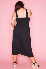 Iris Black Jumpsuit