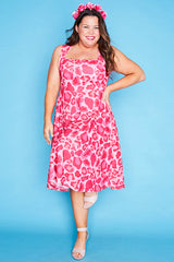Hazel Pink Leopard Dress