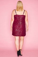 Dazzle Red Sequin Dress