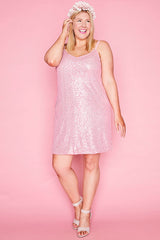 Dazzle Pink Sequin Dress