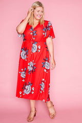 Marley Red Floral Dress