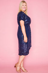 Esme Navy Sequin Dress