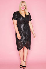 Esme Black Sequin Dress