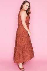 Storybook Brown Polka Dot Dress
