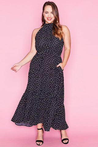 Storybook Black Polka Dot Dress