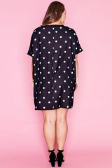 Julia Black Polka Dot Dress