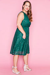 Ritz Green Sequin Dress