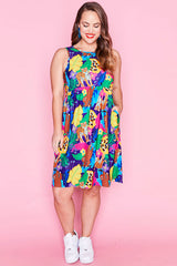 Chris Jangal Print Dress