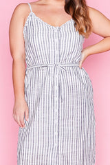 Candy Navy Stripe Dress