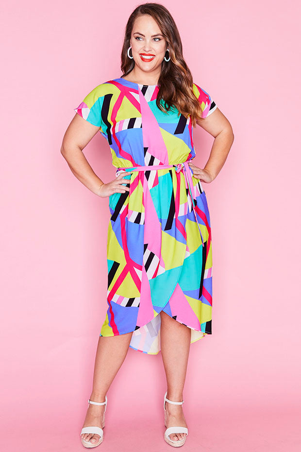 Soul Mate Geo Rainbow Dress