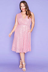 Ritz Pink Sequin Dress