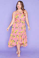 Isla Lemon Spots Dress