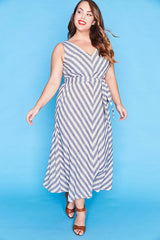 Nora Navy Stripe Dress