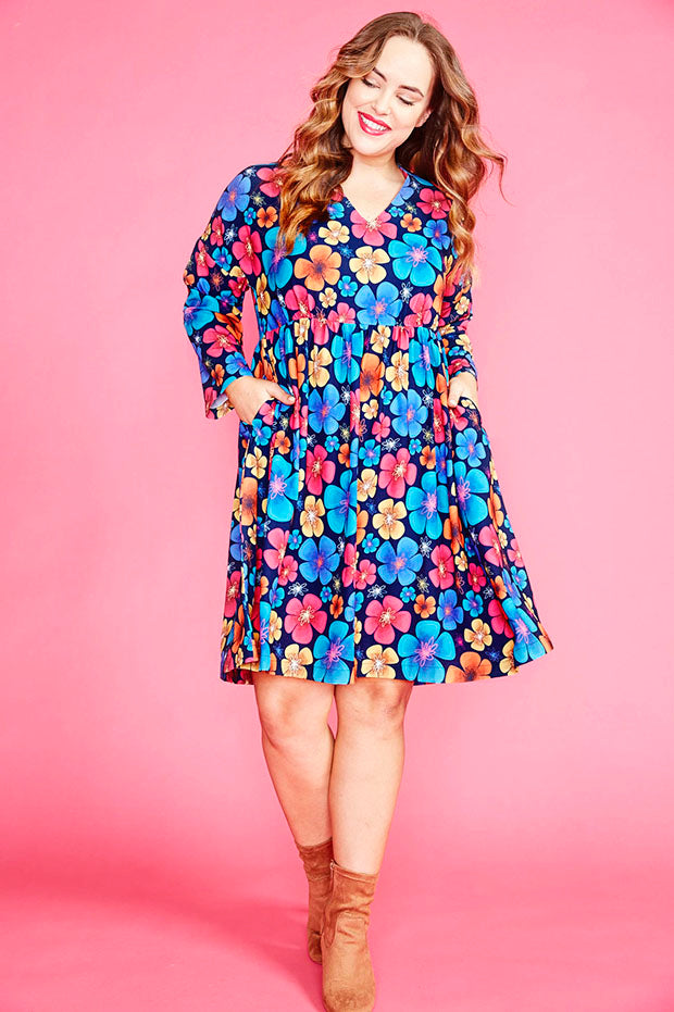 Dawn Pansy Print Dress