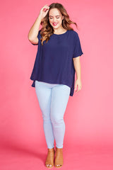 Serena Navy Top