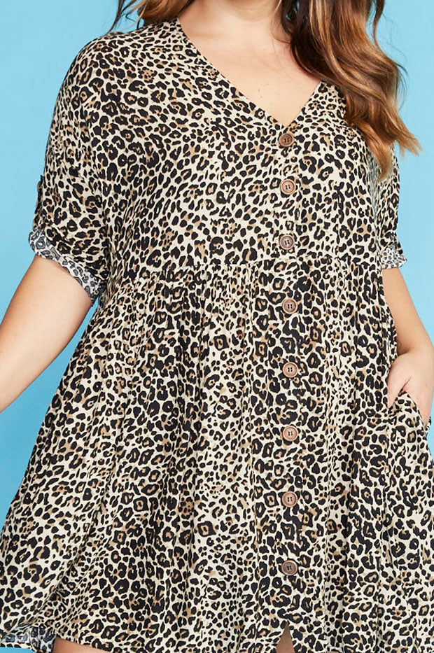 Adina Leopard Print Dress