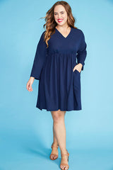 Dawn Navy Dress