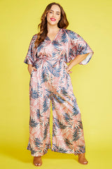 Lexie Palm Print Jumpsuit