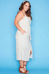 Uptown Blue Stripe Dress