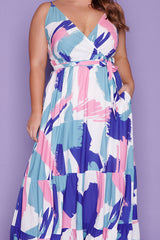 Glenda Brushstroke Maxi Dress