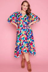 Mandy Painterly Wrap Dress