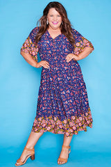 Jessica Navy Floral Dress