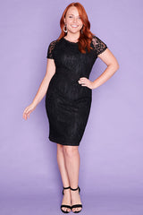 Beatrice Black Lace Dress