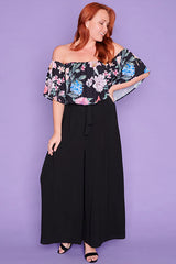 Lemonade Black Floral Top