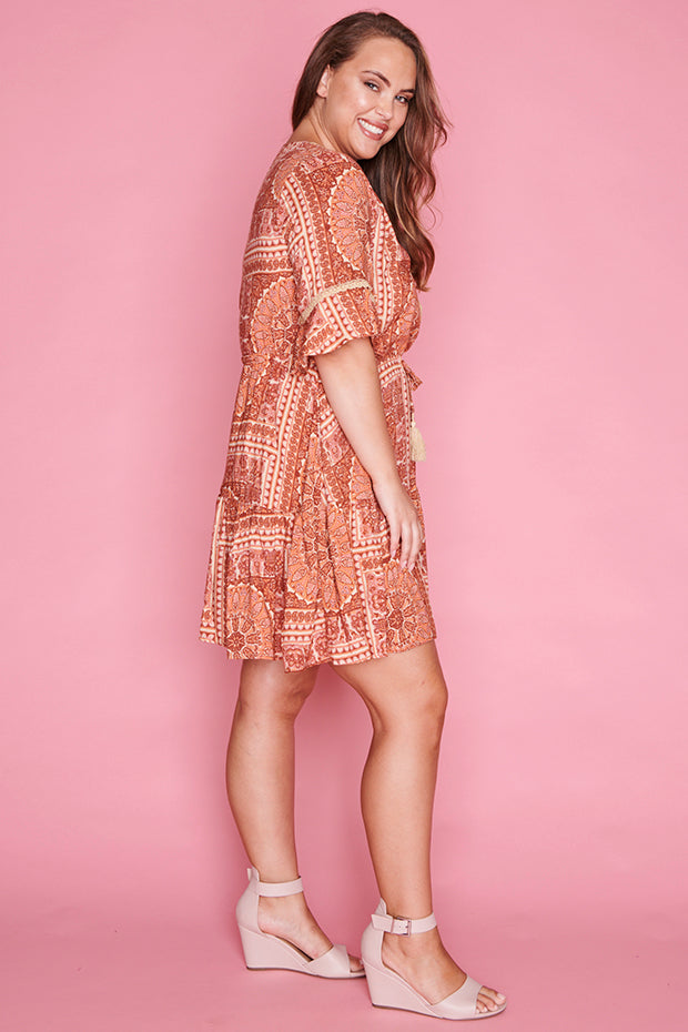 Antonia Aztec Print Dress