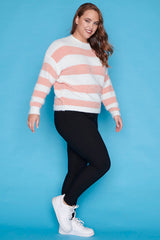 Homebody Blush Stripe Knit