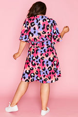 Sarah Bright Animal Wrap Dress