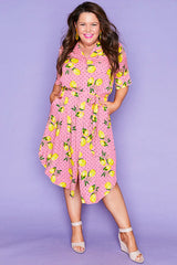 Havana Lemon Spots Shirt Dress