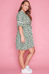 Antonia Green Floral Dress
