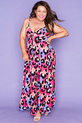 August Bright Animal Maxi Dress