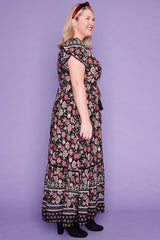 Bonnie Black Floral Maxi Dress