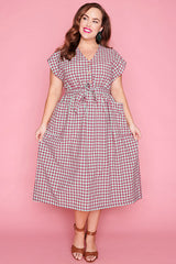 Georgie Mint Gingham Dress