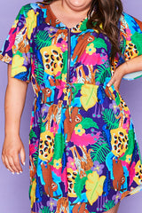 Gemma Jangal Print Dress