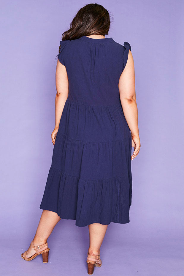 Selina Navy Dress
