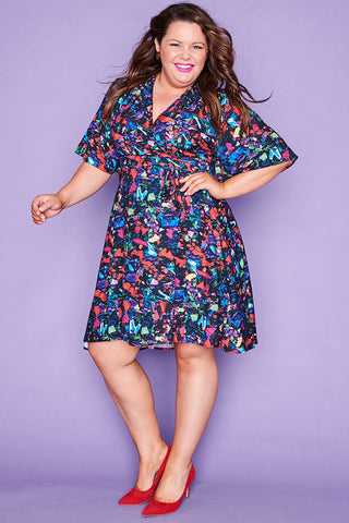 Sarah Paparazzi Print Wrap Dress